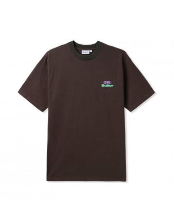 Butter Goods Heavyweight Pigment Dye Tee - Vintage Black - Product Photo 1