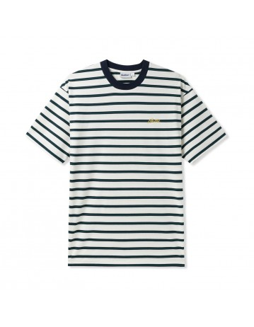 Butter Goods Chase Stripe Tee - White - Product Photo 1