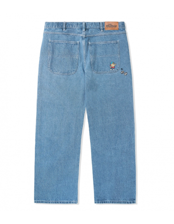 Butter Goods Dice Denim Pants (Relaxed) - Washed Indigo - Product Photo 2
