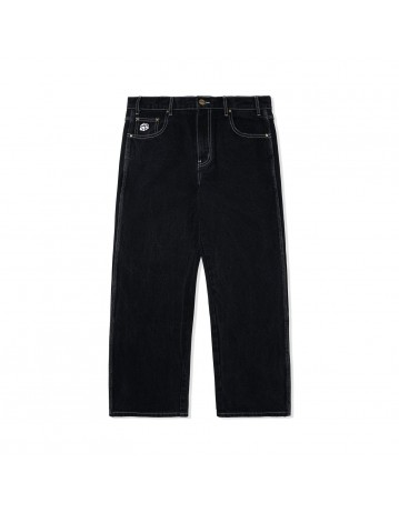 Butter Goods Dice Denim Pants (Relaxed) - Washed Black - Product Photo 1