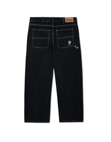 Butter Goods Dice Denim Pants (Relaxed) - Washed Black - Product Photo 2