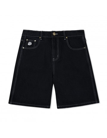 Butter Goods Dice Denim Shorts - Washed Black - Product Photo 1