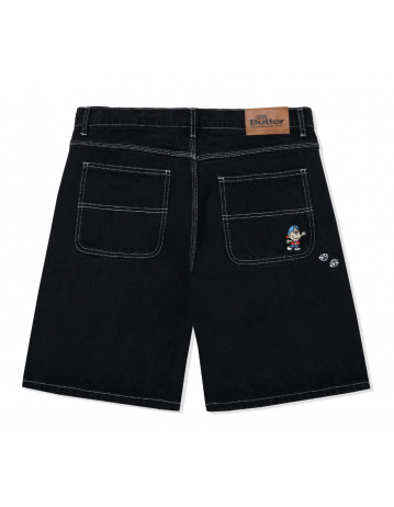 Butter Goods Dice Denim Shorts - Washed Black - Product Photo 2