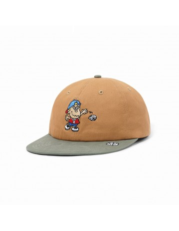 Butter Goods Dice 6 Panel Cap - Tan/Forest Green - Product Photo 1