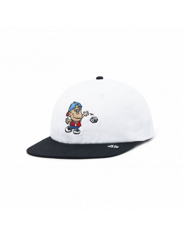 Butter Goods Dice 6 Panel Cap - White/Black - Product Photo 1