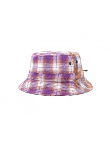 Butter Goods Patchwork Plaid Bucket Hat - Brown/Purple - Product Photo 1