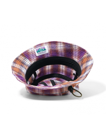 Butter Goods Patchwork Plaid Bucket Hat - Brown/Purple - Product Photo 2