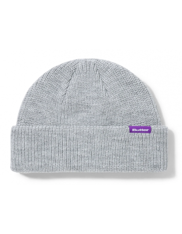 Butter Goods Wharfie Beanie - Ash Grey - Product Photo 1