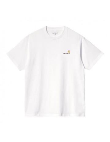 Carhartt S/S American Script T-Shirt - White - Product Photo 1